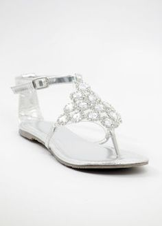 Details about WOMENS FLAT DIAMANTE SPARKLY TOE POST SILVER ...