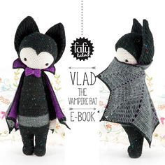"brand new lalylala crochet pattern ""VLAD the vampire bat"" released! Happy Halloween!"