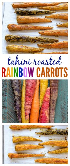 The best way to roast carrots at home: Tahini Roasted Rainbow Carrots