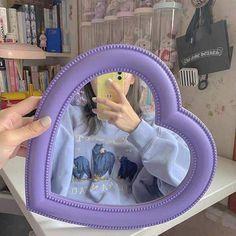 Heart Decorative Mirror - Lavender