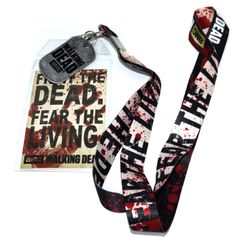 Lanyard for The Walking Dead Fan! Walking Dead Fight the Dead Fear the Living lanyard.