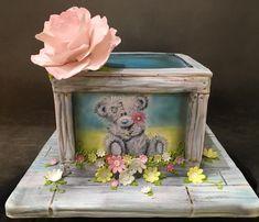 Handpainted Tatty Teddy Cake by Sue Deeble
