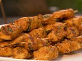 Curry Chicken Skewers Recipe  http://www.foodnetwork.com/recipes/aaron-mccargo-jr/curry-chicken-skewers-recipe/index.html#
