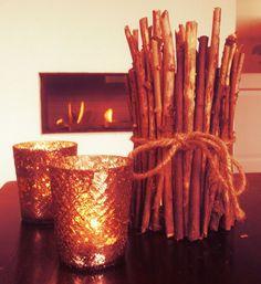 Sfeervolle kaarsenhouder van takjes #kaarsenhouder #kaarshouder #takjes #sfeervol #waxinelichthouder #kaarsen #candle #holder #twig #candleholder #twigs