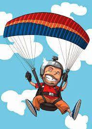 Bildergebnis für paragliding drawing