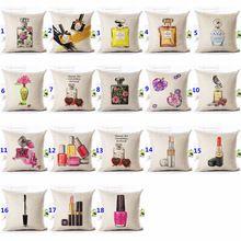 45 cm * 45 cm capa de almofada geométrica batom 1 side impressão decorativa almofadas capa para Couch sofá fronha(China (Mainland))