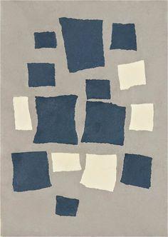 kART à voir: n°171 Sans titre (Collage avec des carrés disposés selon les lois du hasard) (1916)Jean Arp