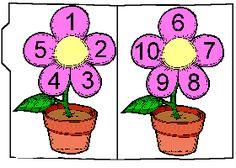 Preschool Printables : File Folder / Numbers In Bloom