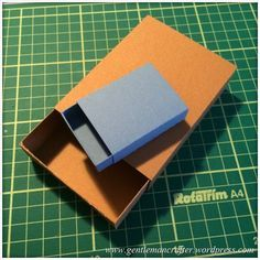 Scan It Saturday - Matchbox Cutting File for Brother Scan N Cut - Resized Boxes - gentleman crafter