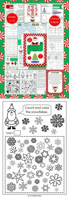 Click on the 'Preview' button to download this free snowflake activity. (Grades 1 to 4)