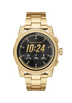 Michael Kors Access Grayson Touchscreen Smartwatch - Men Wrist Watch on YOOX. The best online selection of Wrist Watches Michael Kors Access. Breitling, Bulova, Smartwatch, Michael Kors Gold, Michael Kors Watch, Smart Bracelet, Bracelet Watch, Men's Accessories, Skagen