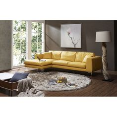 Found it at Wayfair - Soleil Premium Leather Sectional