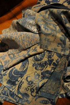 FORTUNY 'Jupone' Textile 1989 | From a collection of rare vintage textiles and quilts at http://www.1stdibs.com/fashion/ephemera/textiles-quilts/