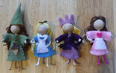 Bendy Doll Tutorial from The Enchanted Tree Waldorf Crafts, Waldorf Dolls, Doll Crafts, Diy Doll, Mouse Crafts, Pinterest Inspiration, Enchanted Tree, Creation Deco, Clothespin Dolls