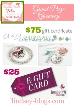 JAMBERRY NAILS AND AKA ORIGINALS HAND STAMPED JEWELRY GIVEAWAY – SOMETHING SPECIAL FOR MOM ends 5.11.15
