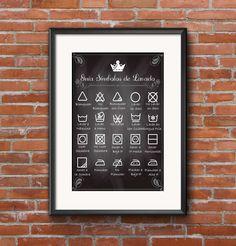 Guía Símbolos de Lavado, Laundry Guide EN ESPAÑOL, imprmible by ManilasShop on Etsy