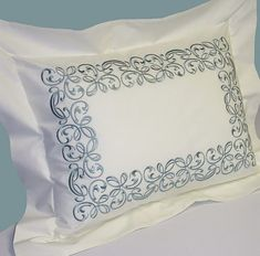 A Touch of Lace Lace Bedding, Embroidered Pillowcases, Embroidered Towels, Vintage Embroidery, Custom Embroidery, Machine Embroidery Designs, Home Tex, Bathroom Towel Decor, Handmade Table