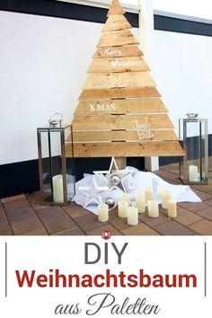 Toller Paletten-Weihnachtsbaum! DIY Video mit Anleitung.