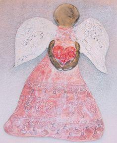 "handmade pottery angels | ... - 14"" x 9-1/4"" wide - READY TO SHIP - Handmade Pottery - Home Decor"