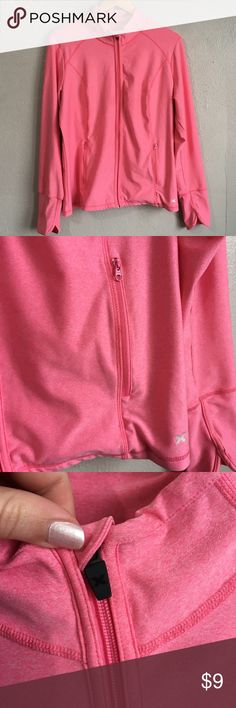 Xersion Performancewear Workout Exercise Jacket Super cute pink jacket from Xersion size extra large. Item does have some dark marks on back of left sleeve (see photos). Please check out my other listings as I do offer a bundle discount, I love offers! Xersion Jackets & Coats