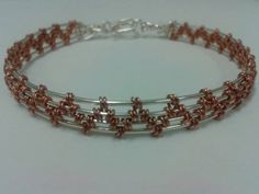 ZigZag Woven Wire Bracelet by SacredCoyoteDesigns on Etsy, $50.00