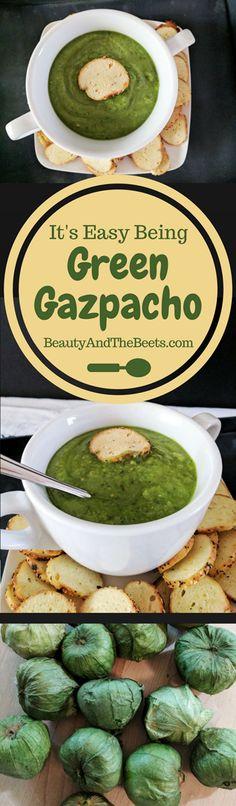 It's Easy Being Green Gazpacho #MeatlessMonday