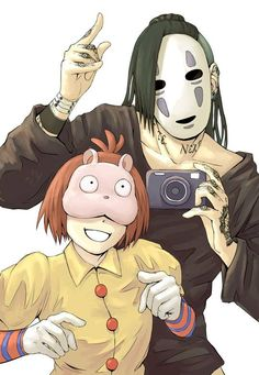 I don't know how to feel about this... Tokyo Ghoul and Studio Ghibli crossover.