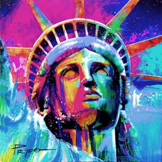 """Statue of liberty"" Artwork by Hector Prado Acrylic 48""x40"""