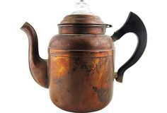 Antique Copper Coffee Kettle | Tea Time