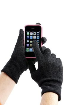 Touchscreen Gloves for touch screen phones, cameras, gaming, and eReaders.