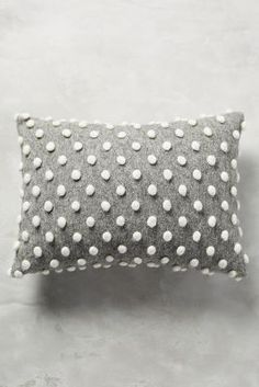 Woollen Pom Cushion - anthropologie.com
