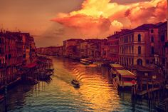 """FIERY DAWN"" Venice = OHHHHHH ... ::tuggin on sleeve:: .... Can you JUST imagine BEING there to SEE THIS!!!! I can ..... ::lesigh::"