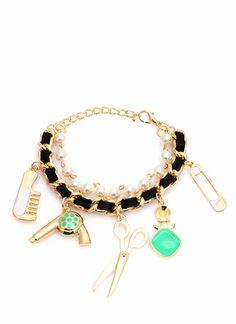 Coiffed Cutie Charm Bracelet