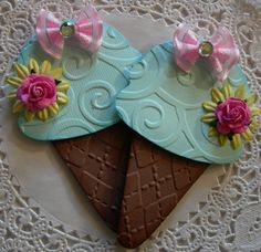 Ice Cream Cone Paper Embellishments