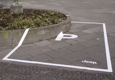 Hats off to Jeep for a very inexpensive and clever Guerilla PR mark