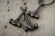 Forged Thor's hammer pendants!