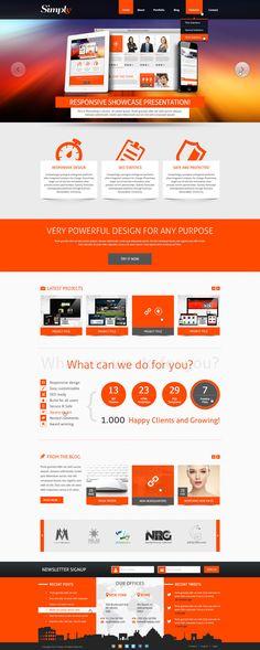 Simply - Creative PSD Template - Mojo Themes  #design #webdesign #template #web #graphic #psd #photoshop #website #theme