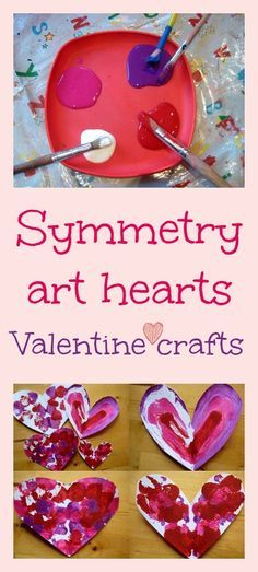 @Mindy Chance Whalen We should do this together as an art project!! Symmetry art valentine craft - beautiful kids art and math lesson in one
