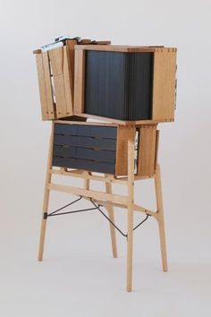 Sarah Myerscough is a London art gallery representing contemporary painters, photographers and international craft and design that focuses on wood and ceramic. David Gates, International Craft, Outdoor Chairs, Outdoor Decor, London Art, Cube Storage, Brutalist, Wood Art, Exterior Design
