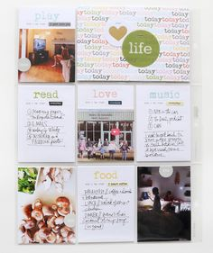 Helping you craft the story of your life. Pocket Scrapbooking, Scrapbook Pages, Digital Scrapbooking, Project Life 6x8, Project Life Scrapbook, Todays Reading, Love Reading, Ali Edwards, Travelers Notebook