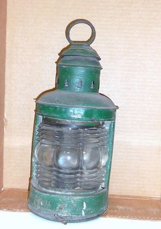 Items similar to Pat Pend 1910 Dietz Triplex Lantern Green Metal Vintage Lanterns Fresnel Globe on Etsy Old Lanterns, Vintage Lamps, Nautical, Metal, Unique Jewelry, Handmade Gifts, Green, Stuff To Buy, Navy Marine