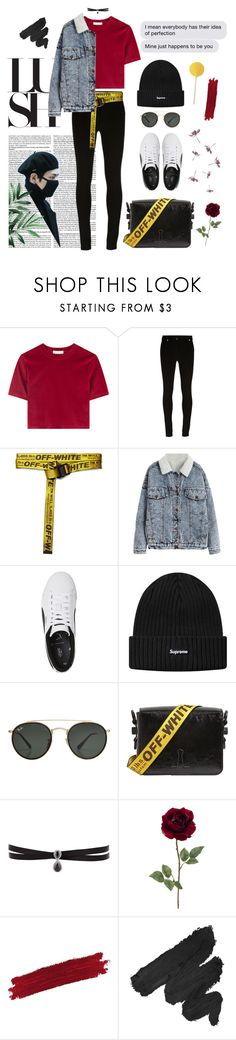 """""""Ft. 김태형 Kim Tae-hyung #2"""" by alva01 ❤ liked on Polyvore featuring Givenchy, Off-White, Ray-Ban, Fallon, By Terry and NYX"""