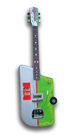 S.Sanseverino custom guitar. Looks like a car or a trailer. #custom #guitar #oneofakind #trailer