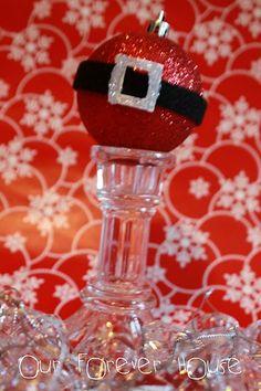 adorable santa belt ornaments