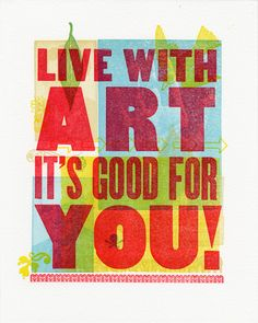 Live With Art It's Good for You. 20x200.com