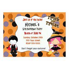 Halloween Invitation Kids Birthday Party