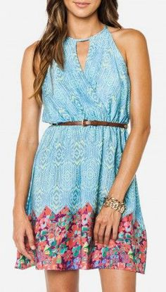 Shannel Keyhole Dress perfect for the summer