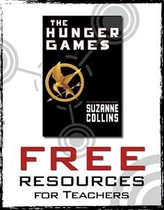 Hunger Games Freebies - Free Resources for Teachers Game Resources, Teacher Resources, Teaching Ideas, Hunger Games Activities, English Units, English Class, Teaching English, Hunger Games Novel, Suzanne Collins