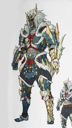 MH Illustration 2 - Zinogre Armor Male - Gunner by Brachydium