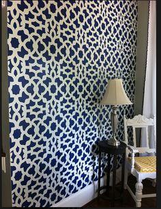 Moroccan Stencil Zamira Allover - Short - reusable wall stencil patterns for walls instead of wallpaper - DIY decor - pochoir Cutting Edge Stencils, Expensive Wallpaper, Wall Stencil Patterns, Stencil Designs, Moroccan Stencil, Moroccan Pattern, Large Stencils, Diy Wallpaper, White Wallpaper